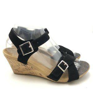 Vionic Wedge Sandals Womens Size 7.5 Anak Black